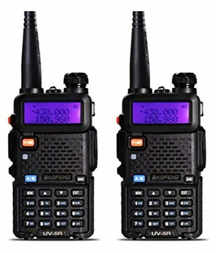 2 PCS BaoFeng UV-5R VHF//UHF Dual Band Radio 136-174 400-480Mhz Transceiver NEW